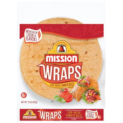 Mission Sun-Dried Tomato Basil Wraps (6 ct., 15 oz.)