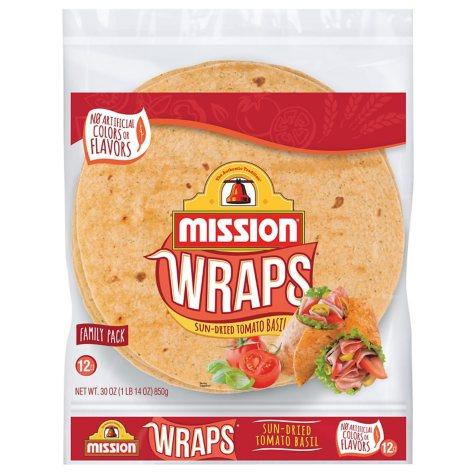 Mission Sun-Dried Tomato Basil Wraps (30 oz., 12 ct.)