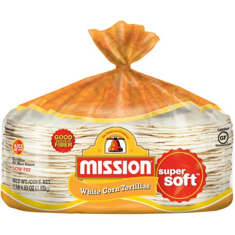 Mission White Corn Tortillas (110 ct., 6.3 lbs.)