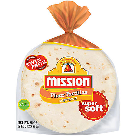 "Mission 8"" Soft Taco Flour Tortillas, Twin Pack (10 ct., 2 pk.)"