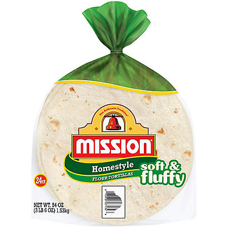 Mission Homestyle Flour Tortillas (24 ct., 54 oz.)