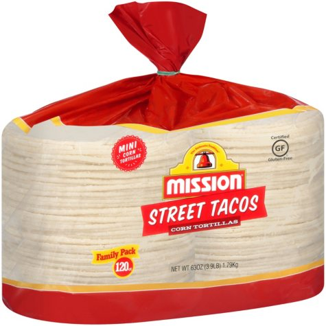 Mission Street Tacos Mini Corn Tortillas (63 oz., 120 ct.)