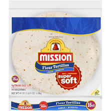 Mission Flour Tortillas Large Burrito (16 ct.)