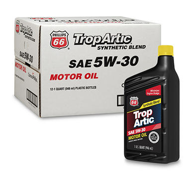 Trop Artic 5W-30 Synthetic Blend Motor Oil - 1 Quart Bottles - 12 pack
