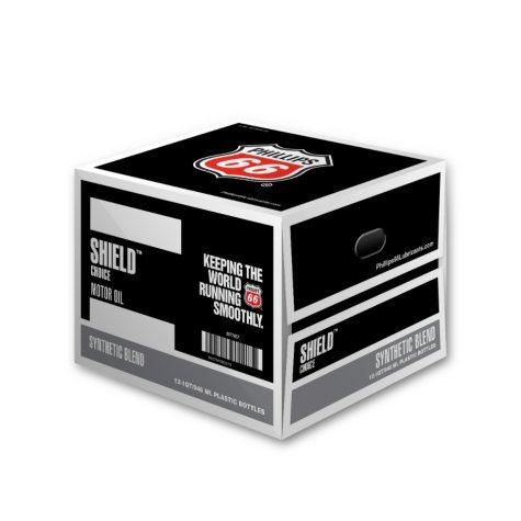 Phillips 66 Shield Choice Synthetic Blend Motor Oil 5W-20 (12/1 Quart Bottles)