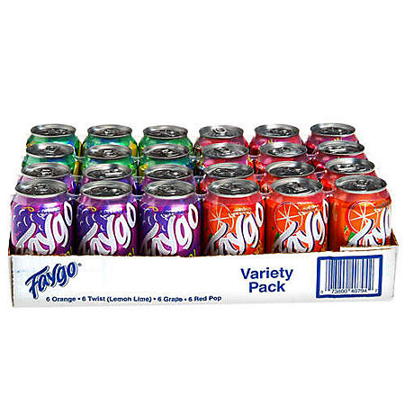 Faygo Soda Pop Variety Pack (12 oz. cans, 24 ct.)