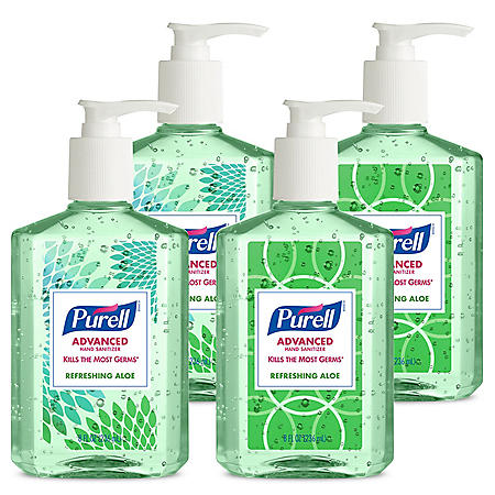 Purell Advanced Design Series Hand Sanitizer with Aloe (8 oz. pump bottle, 4 pk.)