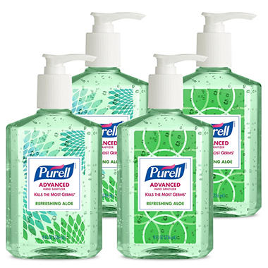 Purell Advanced Instant Hand Sanitizer with Aloe (8-oz. bottle, 24-ct.)