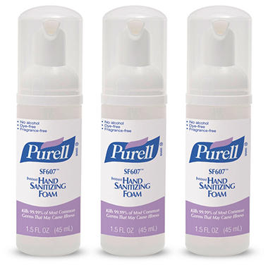 PURELL Alcohol-Free Foam Hand Sanitizer (45mL pump bottle, 3 pk.)