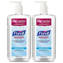 PURELL Advanced Instant Hand Sanitizer (1 liter pump, 2 pk.)
