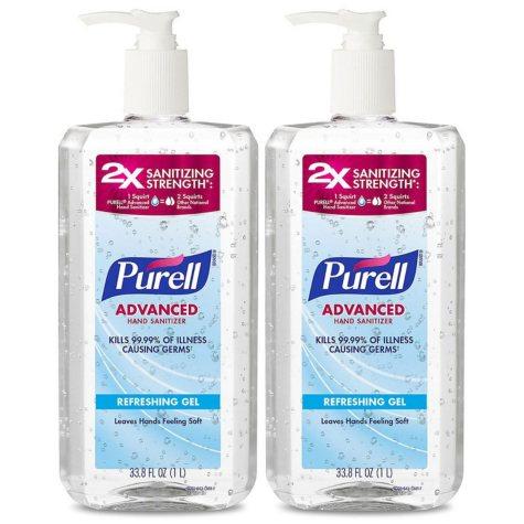 PURELL Advanced Instant Hand Sanitizer (1 liter pump, 2 pk.)
