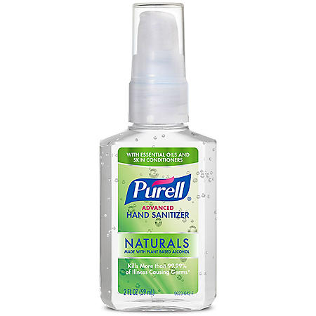 Purell Advanced Instant Hand Sanitizer Naturals (2 oz. pump bottle, 6 pk.)