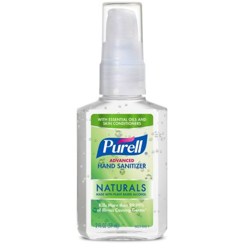 PURELL Advanced Instant Hand Sanitizer Naturals (2 oz. pump bottle, 6 pk.)