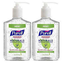 PURELL Advanced Instant Hand Sanitizer, Naturals (12 oz. pump bottle, 2 pk.)