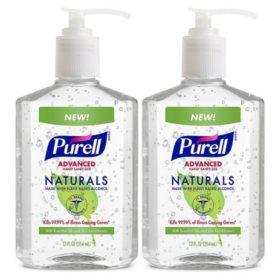 Purell Advanced Instant Hand Sanitizer, Naturals (12 oz. pump bottle, 2 pk.)