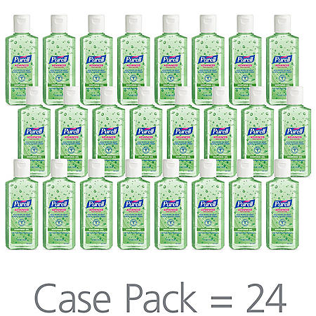 Purell Instant Hand Sanitizer with Aloe, Flip-Cap Bottles (4 oz., 24 pk.)