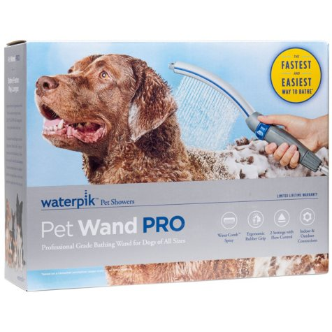 "Waterpik Pet Wand PRO Dog Shower Attachment, 13"" (Blue/Gray)"