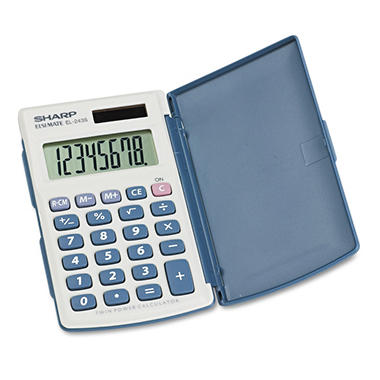 Sharp - EL-243SB Solar Pocket Calculator - 8-Digit LCD