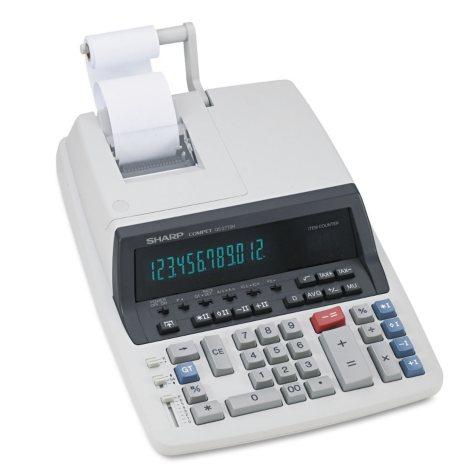 Sharp - QS-2770H Two-Color Ribbon Printing Calculator, Black/Red Print -  4.8 Lines/Sec
