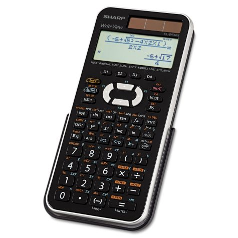 Sharp - EL-W516XBSL Scientific Calculator -  16-Digit LCD