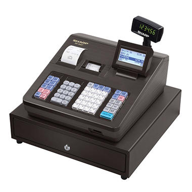 Sharp XE-A407 Cash Register, 7000 LookUps, 99 Dept - 40 Clerk