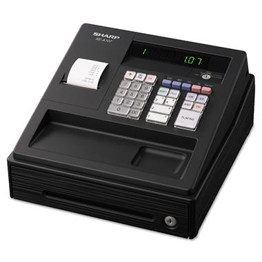Sharp - XEA107 Cash Register, 80 LookUps, 8 Dept - 4 Clerk