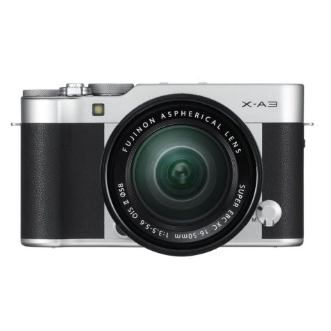 FUJIFILM X-A3 Mirrorless Camera Bundle with XC16-50mmF3.5-5.6 OIS II Lens (Available in: Silver, Brown, and Pink)