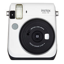 FUJIFILM Instax mini70 Camera (Available in: Island Blue, Canary Yellow, Moon White, Passion Red, or Stardust Gold)