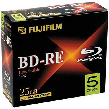 Fujifilm Blu-ray Rewriteable Discs - 25GB 5 pk.