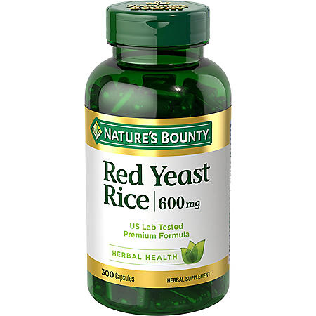 Nature's Bounty Red Yeast Rice 600mg (300 ct.)