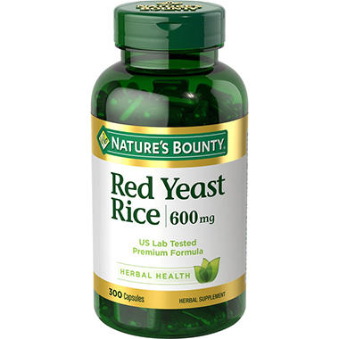 Nature's Bounty Red Yeast Rice 600mg (300 ct.) - Sam's Club