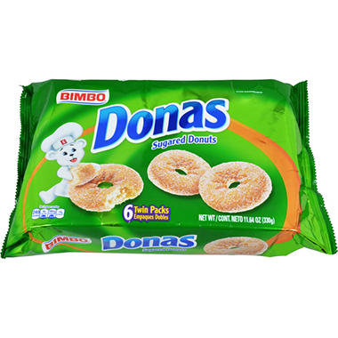 Donas Sugared Donuts Twin Packs (6 ct. tray)