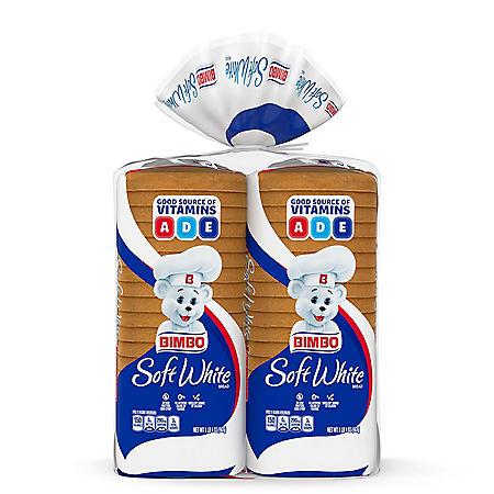 Bimbo Soft White Family Bread (20oz / 2pk)