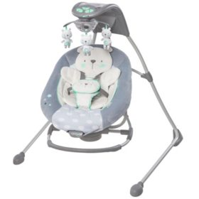 Ingenuity InLighten Cradling Swing & Rocker, Twinkle Twinkle Teddy Bear