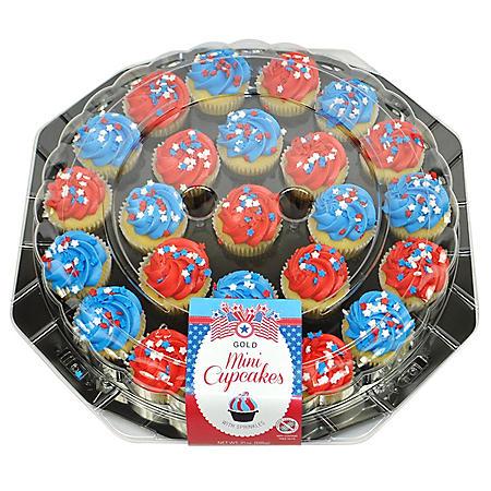 Patriotic Mini Cupcake Platter (24 ct.)