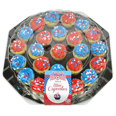 Patriotic Mini Cupcake Platter (24 ct.)
