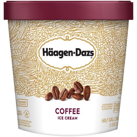 Haagen-Dazs Ice Cream, Coffee (64 oz.)