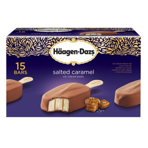 Haagen-Dazs Salted Caramel Bars - 3 oz. - 15 ct.