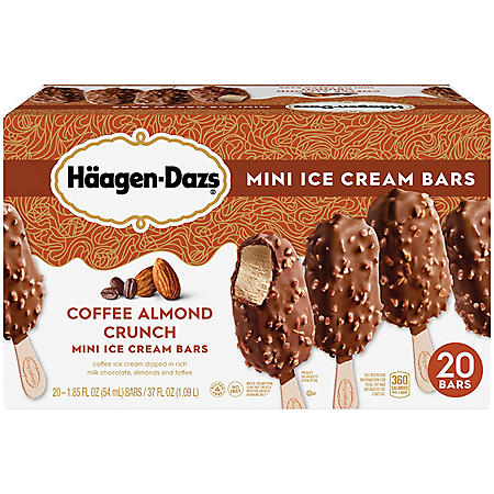 Haagen-Dazs Coffee Almond Crunch Mini Ice Cream Bars (20 ct.)