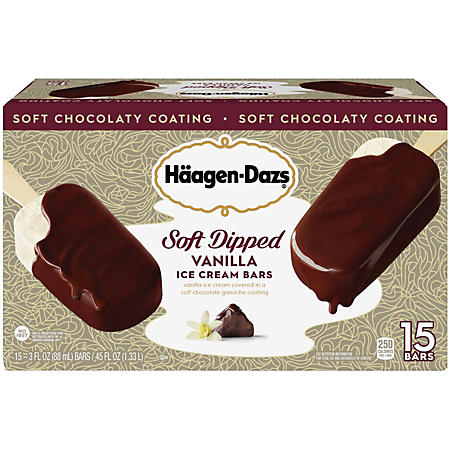 Haagen-Dazs Soft Dipped Vanilla Ice Cream Bars (15 ct.)
