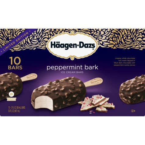 Haagen Dazs Limited Edition Peppermint Bark Ice Cream Bars (10 ct.)