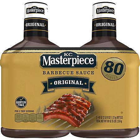 KC Masterpiece Barbecue Sauce Original (40 oz., 2 pk.)