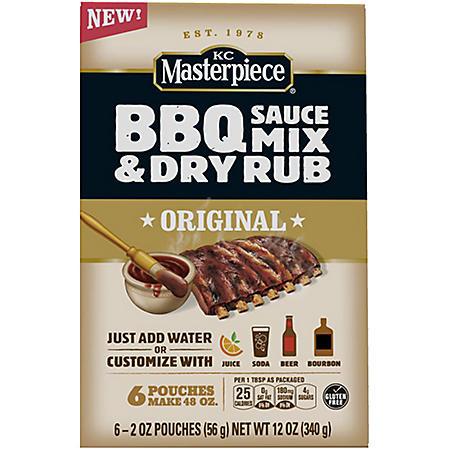 KC Masterpiece BBQ Sauce Mix and Dry Rub (6 pk., 2 oz. ea.)