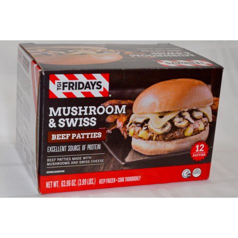 T.G.I. Fridays Mushroom and Swiss Beef Patties (12 ct.)
