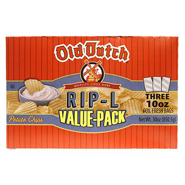 Old Dutch Rip-L Potato Chips (10 oz. ea., 3 pk.)
