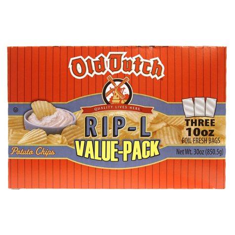 Old Dutch Rip-L Potato Chips (10 oz. ea., 3 pk.)