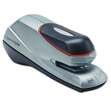 Swingline - Optima Grip Electric Stapler, Half Strip, 20-Sheet Capacity -  Silver