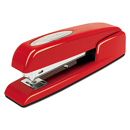Swingline - 747 Business Full Strip Desk Stapler, 20-Sheet Capacity -  Rio Red