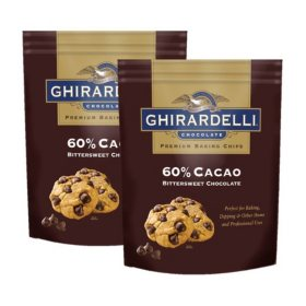 Ghirardelli 60% Cacao Bittersweet Chocolate Baking Chips (30 oz., 2 ct.)