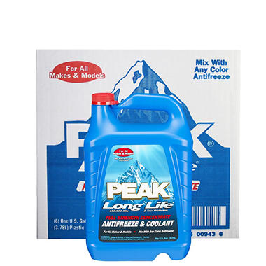 Peak Long Life Antifreeze (6-pack / 1-gallon bottles)